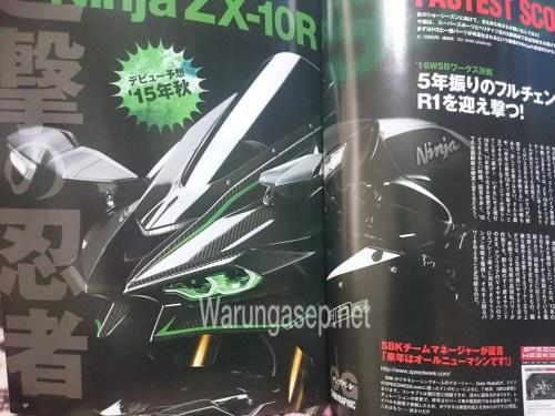 Lo anh Kawasaki ZX10R 2016 tren tap chi Nhat Ban - 2