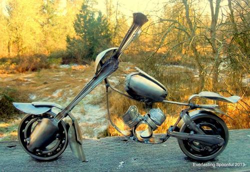 Mo hinh mo to Chopper sieu doc tu nhung chiec thia - 13