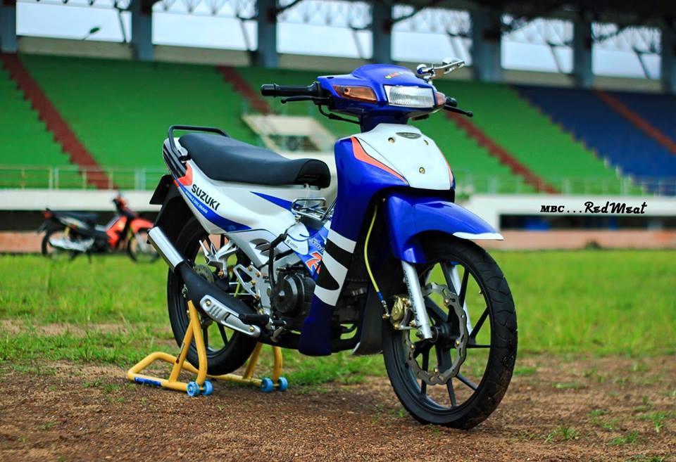Suzuki satria 120 do phong cach zin di dao pho - 9