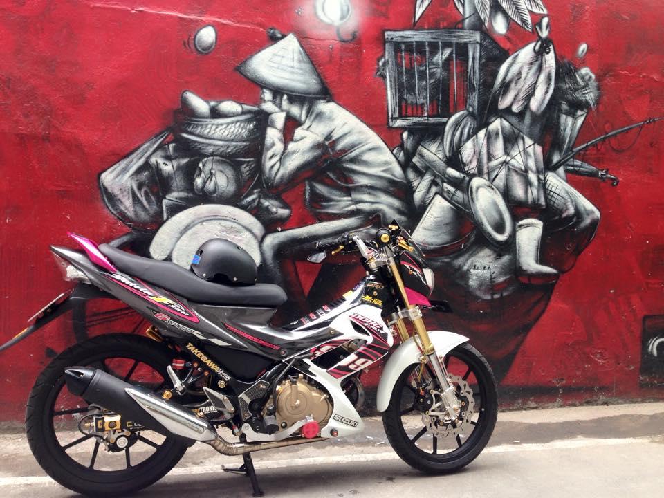 Suzuki Satria F150 do sanh dieu cua dan choi Viet