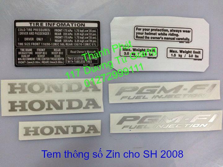 Chuyen Phu tung zin Do choi xe SHi150 2002 2013 Dylan PS - 33