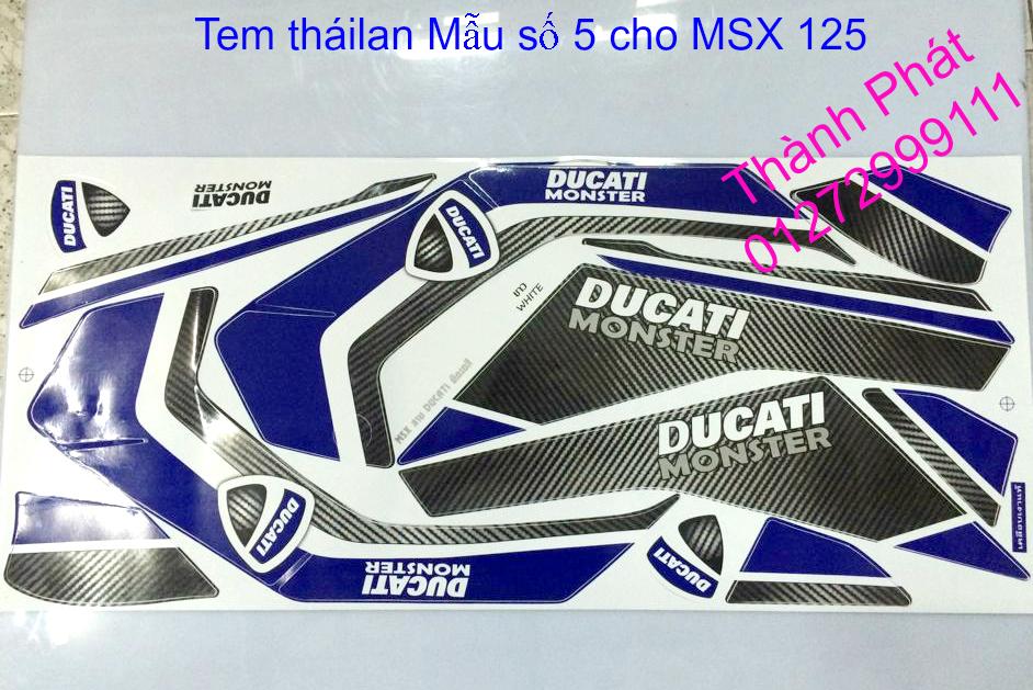 Do choi Honda MSX 125 tu A Z Po do Kinh gio Mo cay Chan bun sau de truoc Ducati Khung suo - 18