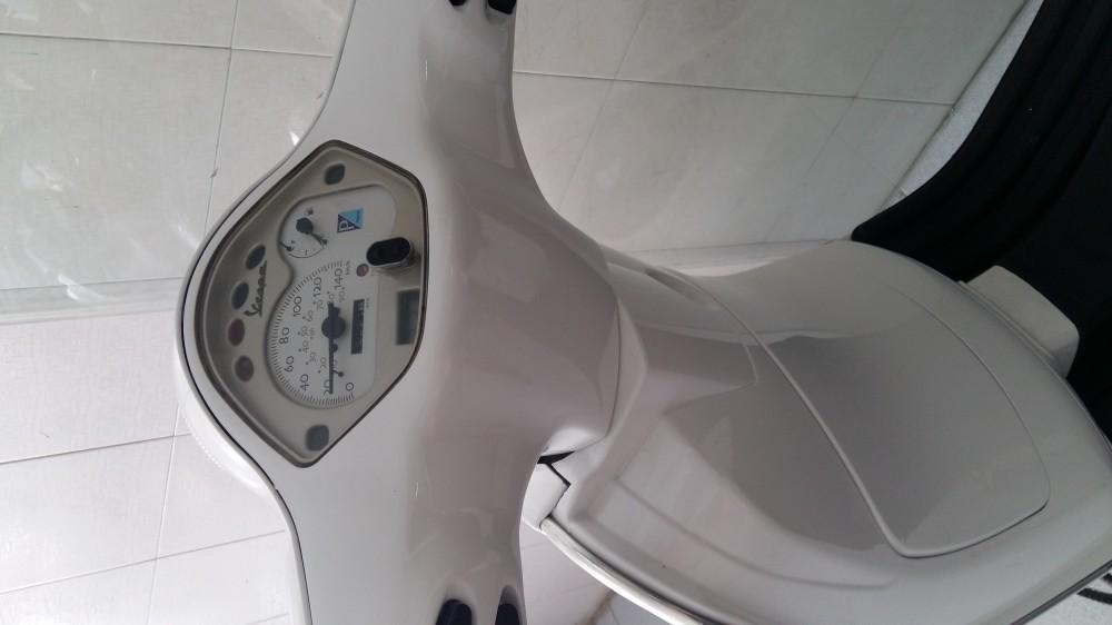 Vespa LX150 nhap italia dk 42009 mau trang - 2