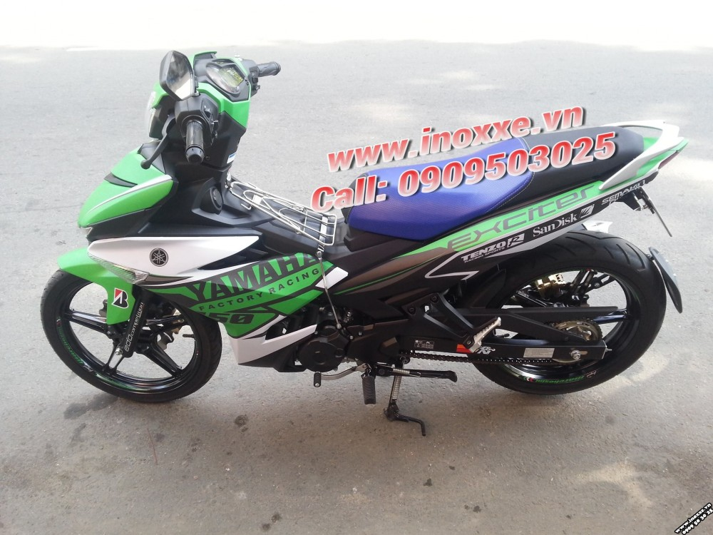 Xe exciter 150 do tem xe don gian nhung chat