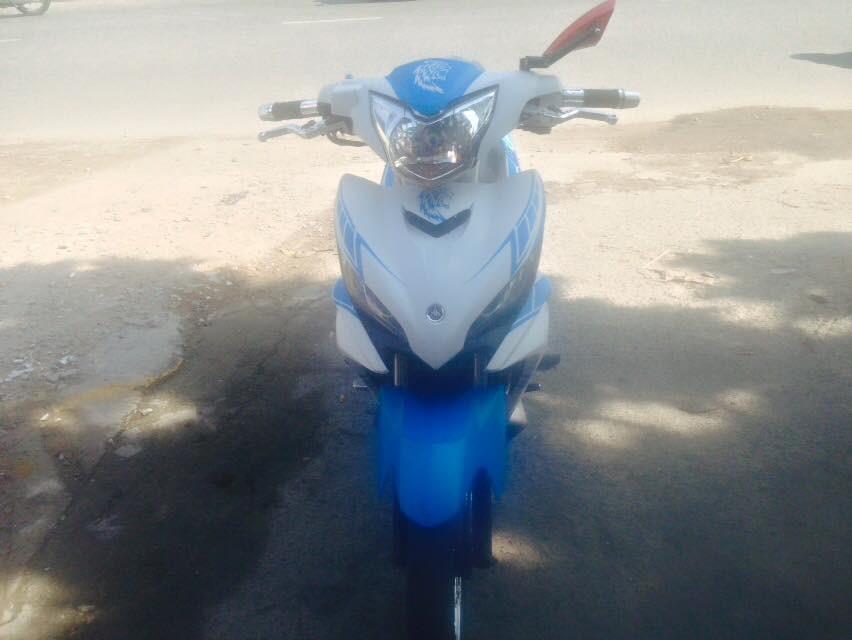 Yamaha Exciter tay con 2014 mau trang xanh xe dep zin chinh chu - 2