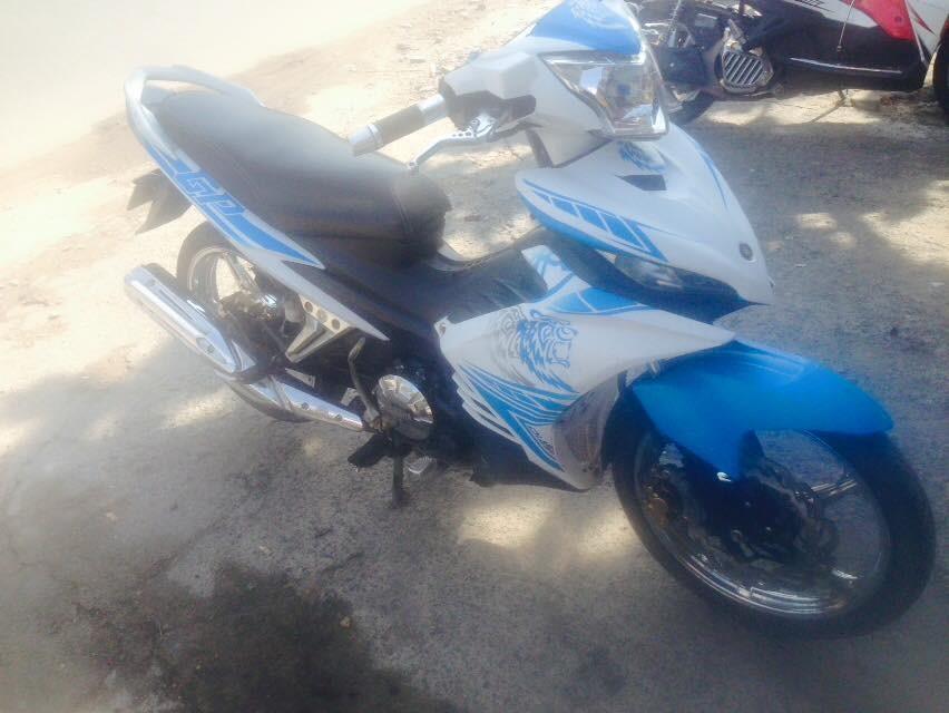 Yamaha Exciter tay con 2014 mau trang xanh xe dep zin chinh chu - 3