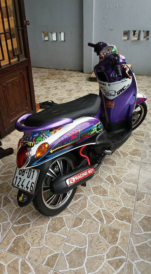 Yamaha Mio Classico 110cc con xe cua nu biker chiu choi - 3