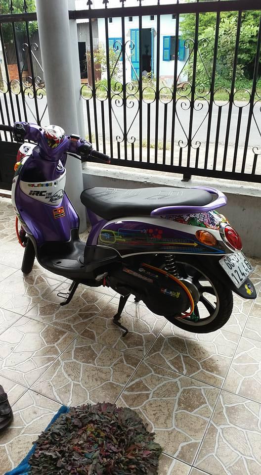 Yamaha Mio Classico 110cc con xe cua nu biker chiu choi - 4