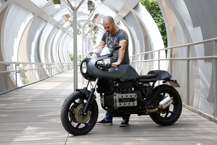 BMW K100 do Cafe Racer dam chat co dien sang trong day tinh te - 6