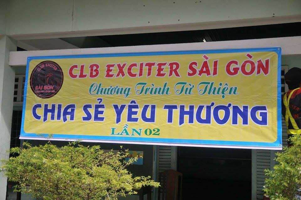 Club Exciter Sai Gon cung hanh trinh Chia Se Yeu Thuong 2015