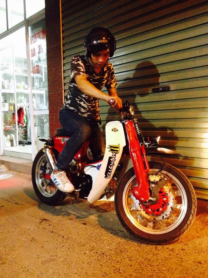 Cub do Streetcub cua Nu biker ca tinh va Chang sinh vien me do xe - 2