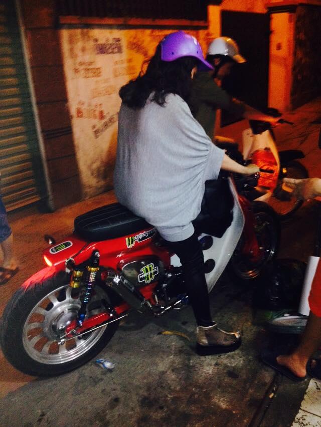 Cub do Streetcub cua Nu biker ca tinh va Chang sinh vien me do xe - 11