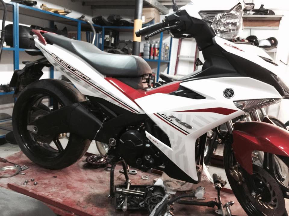 Exciter 150 ban do PKL cua biker Sai Gon dang dan hoan thien