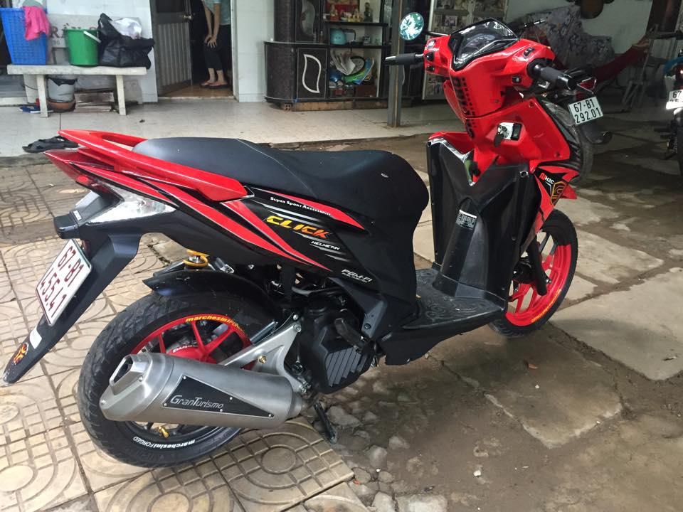 Honda Click thai phien ban doi cu do cuc chat