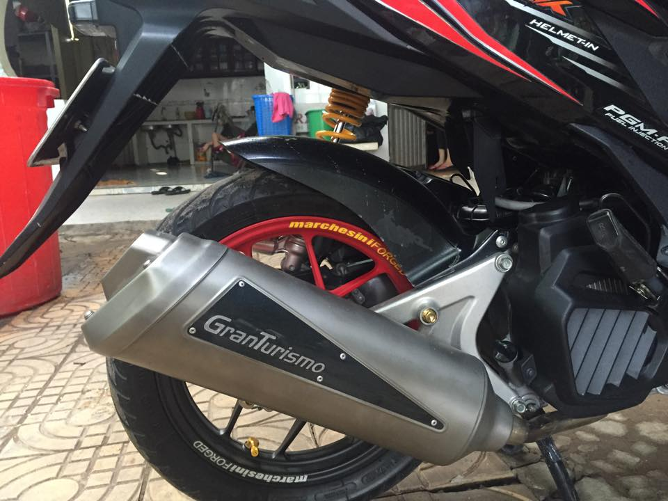 Honda Click thai phien ban doi cu do cuc chat - 3