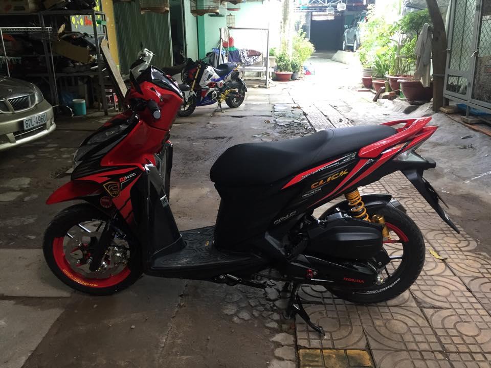 Honda Click thai phien ban doi cu do cuc chat - 4