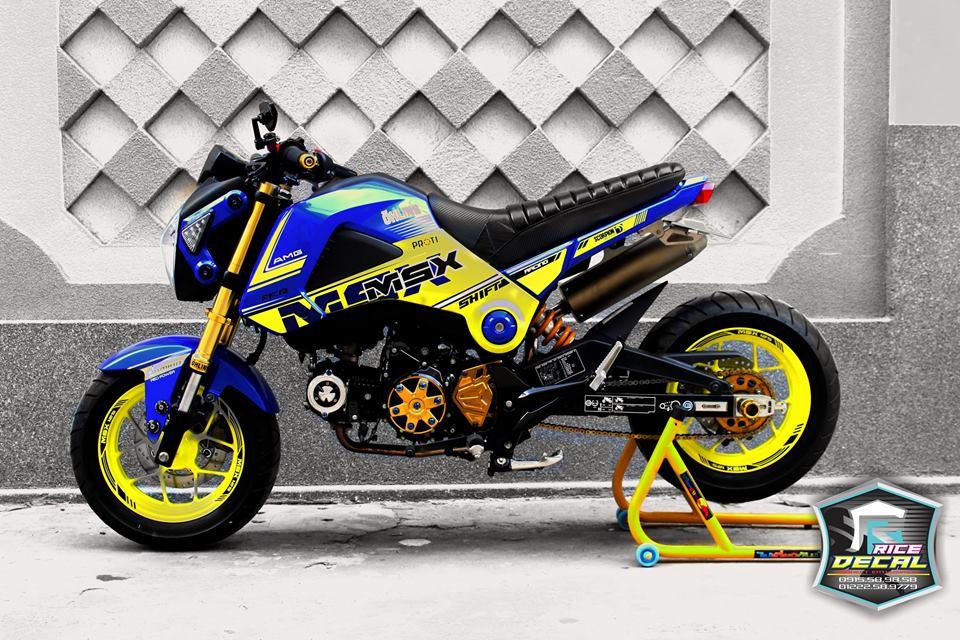 Honda MSX chiec mini bike bien the nhieu phien ban do