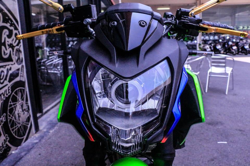 Kawasaki Z250SL do an tuong voi phien ban that noi troi - 3