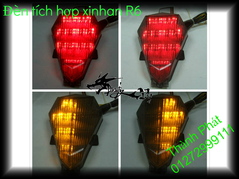 Xinhan kieu Rizoma Barracuda OXFORD cho xe PKL va xe Nho Den LED kieu den Xenon Domi Bong OSR - 32
