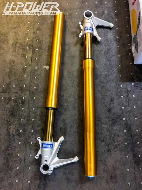 Yamaha R3 do phien ban Crom Movistar voi do choi khung - 2