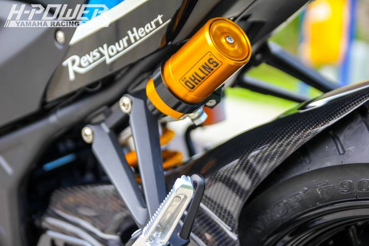 Yamaha R3 do phien ban Crom Movistar voi do choi khung - 18