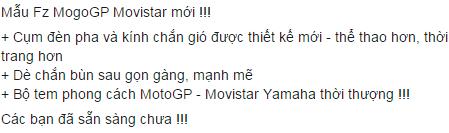 Yamaha Viet Nam dang chuan bi ra mat Fz150i V30 va R3 2015 - 2