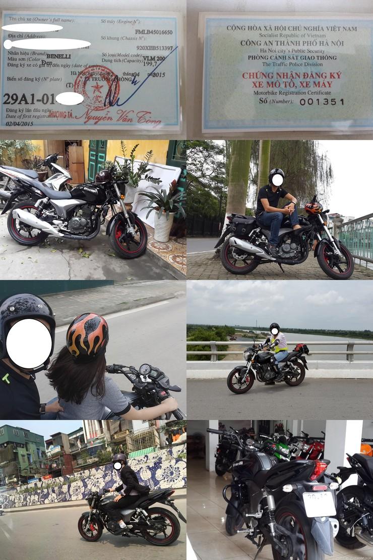 Ban xe PKL tai Ha Noi Benelli VLM 200cc gia 6x trieu