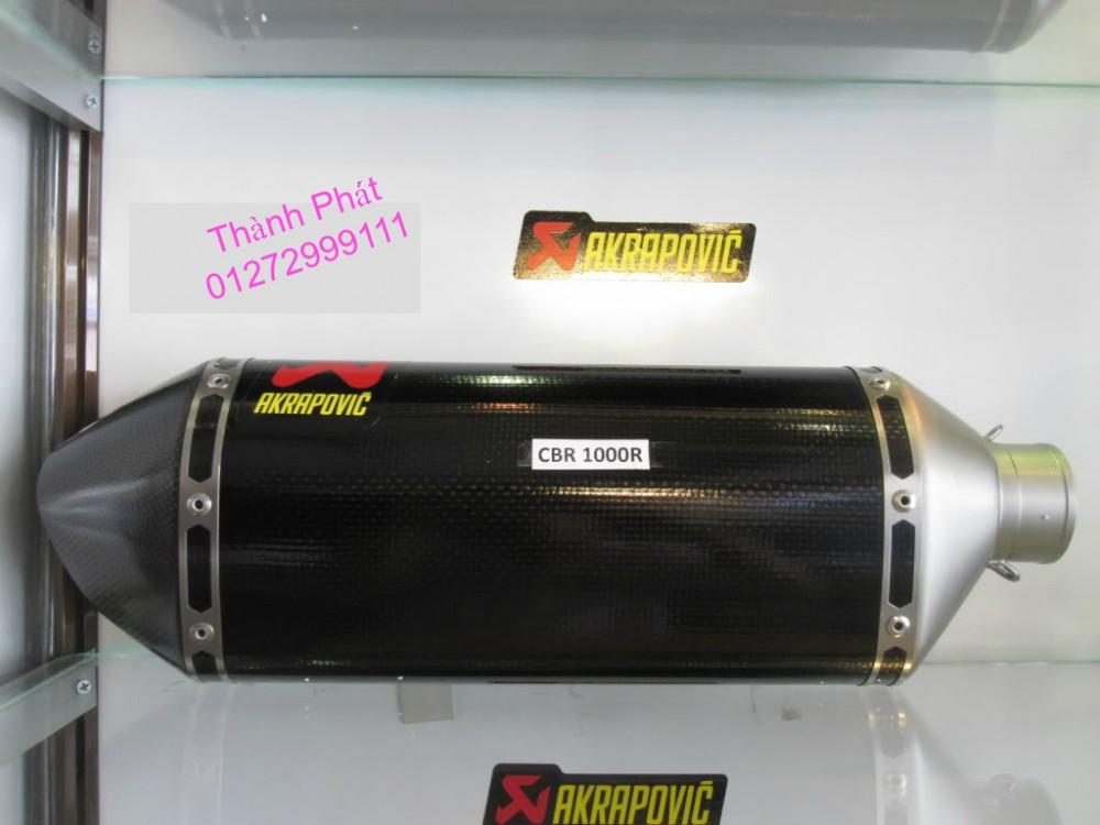 Bo AKAPOVIC cho SH150 SH300 CBR150 FZ16 R15 cac loai xe PKL CB1000 CBR1000 Z1000 ZX10R R6 - 20