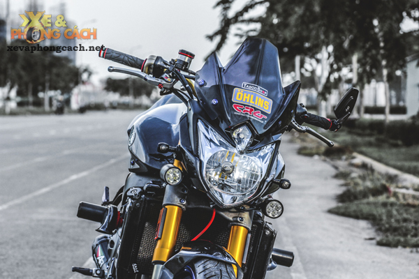 Cam nhan ve chiec Yamaha FZ8 do khung voi chi phi 250 trieu cua biker Sai Gon - 5