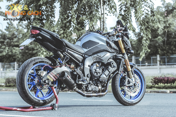 Cam nhan ve chiec Yamaha FZ8 do khung voi chi phi 250 trieu cua biker Sai Gon - 7