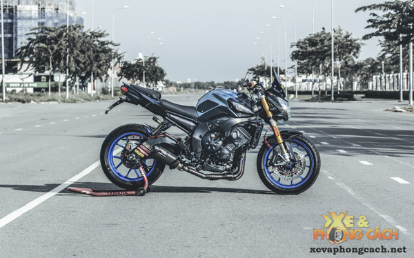 Cam nhan ve chiec Yamaha FZ8 do khung voi chi phi 250 trieu cua biker Sai Gon - 9