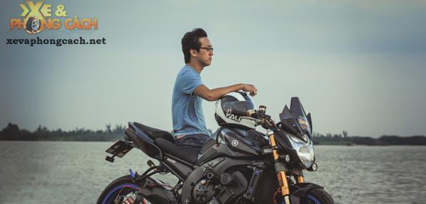 Cam nhan ve chiec Yamaha FZ8 do khung voi chi phi 250 trieu cua biker Sai Gon - 11