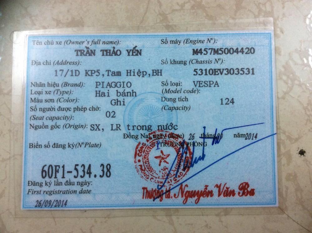 Can ban Vespa GTS super 2014 chinh chu - 4