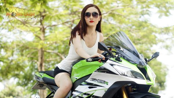 Chan dai xinh dep do dang cung Kawasaki Ninja ZX10R 2015 - 8