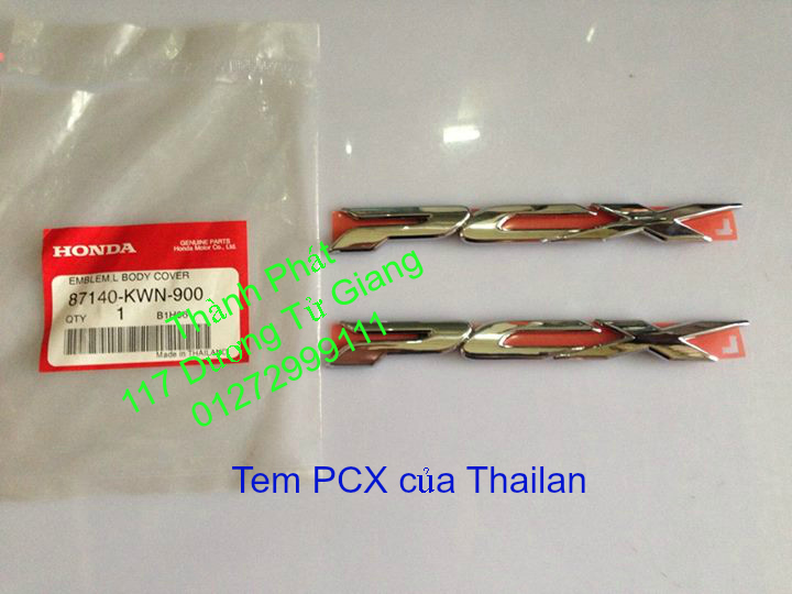 Chuyen Phu tung Zin Honda PCX Thailan va VN doi 2011 doi 2014 day du het do mu va do may Gia tot u - 25