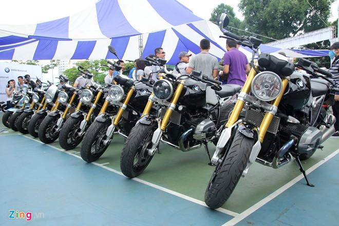 Dan moto BMW R NineT hoi tu ve Vietnam Motorbike Festival 2015 - 2