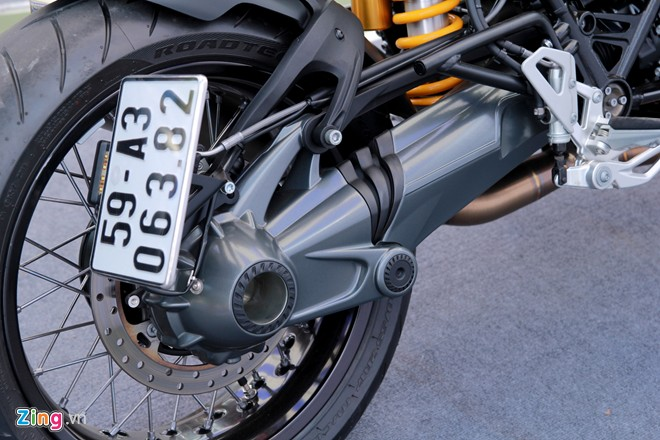 Dan moto BMW R NineT hoi tu ve Vietnam Motorbike Festival 2015 - 13