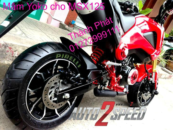 Do choi Honda MSX 125 tu A Z Po do Kinh gio Mo cay Chan bun sau de truoc Ducati Khung suo - 45