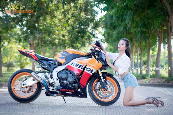 Honda CBR1000RR Repsol day phong cach ben chan dai goi cam - 13