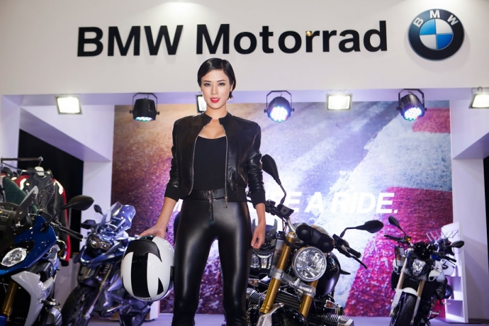 Nguoi dep Viet do dang cung cac chien binh BMW Motorrad - 2