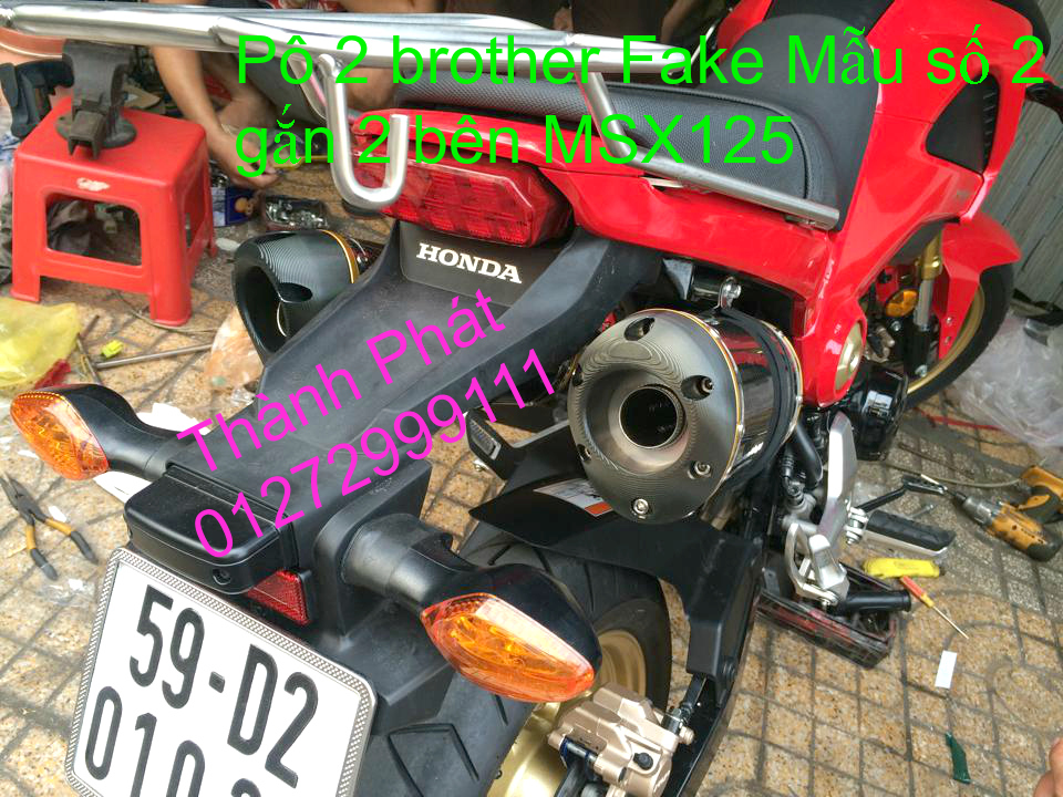 Do choi Honda MSX 125 tu A Z Po do Kinh gio Mo cay Chan bun sau de truoc Ducati Khung suo - 42