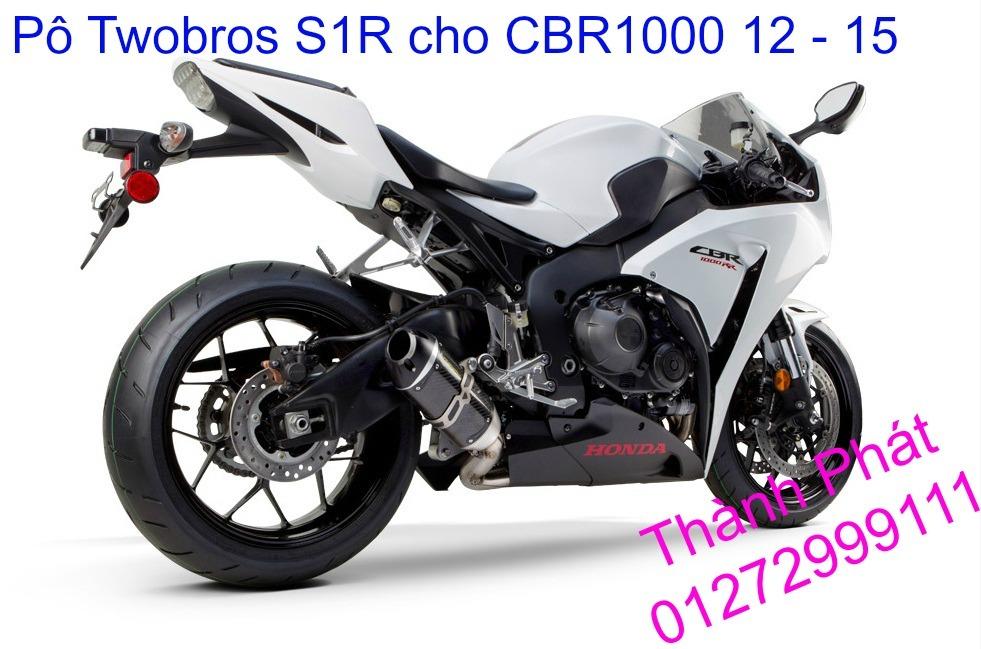 Po Twobros Hang chinh hang cho Ninja 300 R3 MSX125 Z800 Z1000 CBR1000 - 13