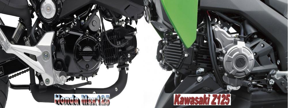So sanh Honda MSX 125 Kawasaki Z125 - 16