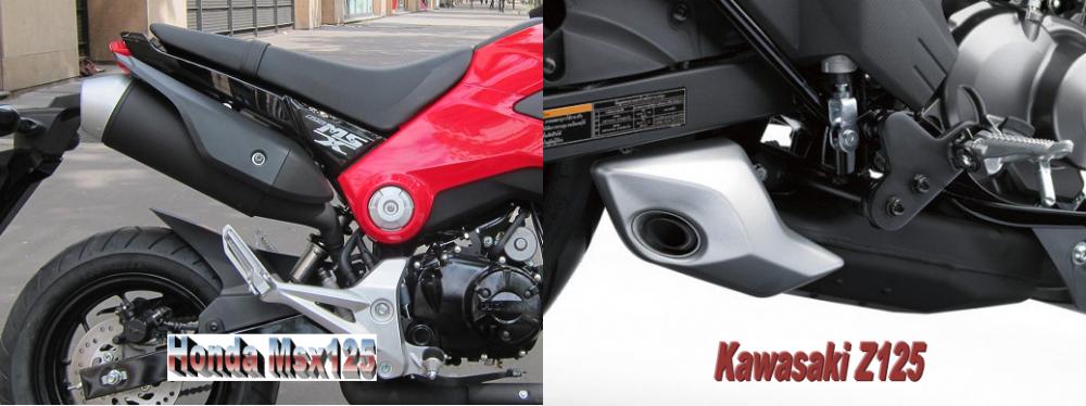 So sanh Honda MSX 125 Kawasaki Z125 - 18