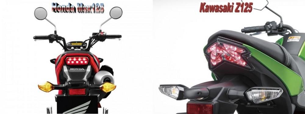 So sanh Honda MSX 125 Kawasaki Z125 - 19