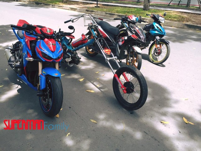Thu choi xe phan khoi lon doc la cua biker 1996 - 2