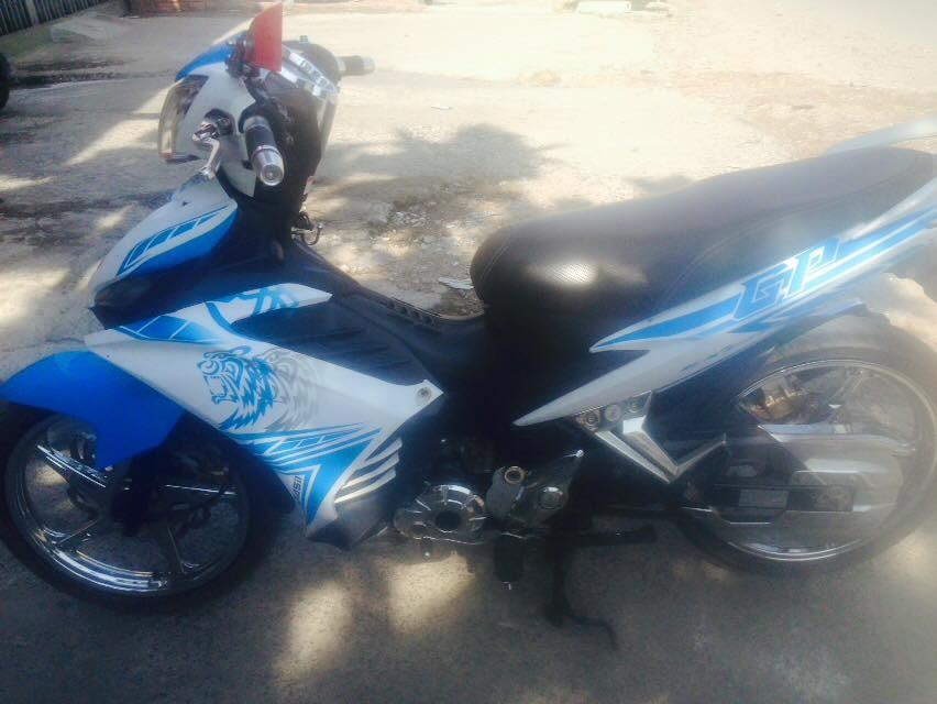 Yamaha Exciter tay con 2014 mau trang xanh xe dep zin chinh chu - 5