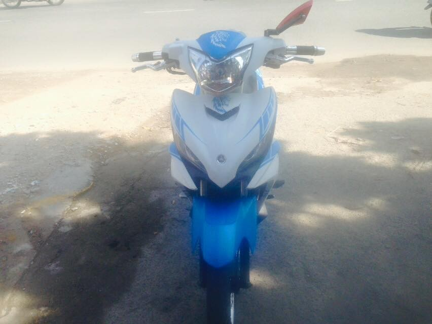 Yamaha Exciter tay con 2014 mau trang xanh xe dep zin chinh chu - 6