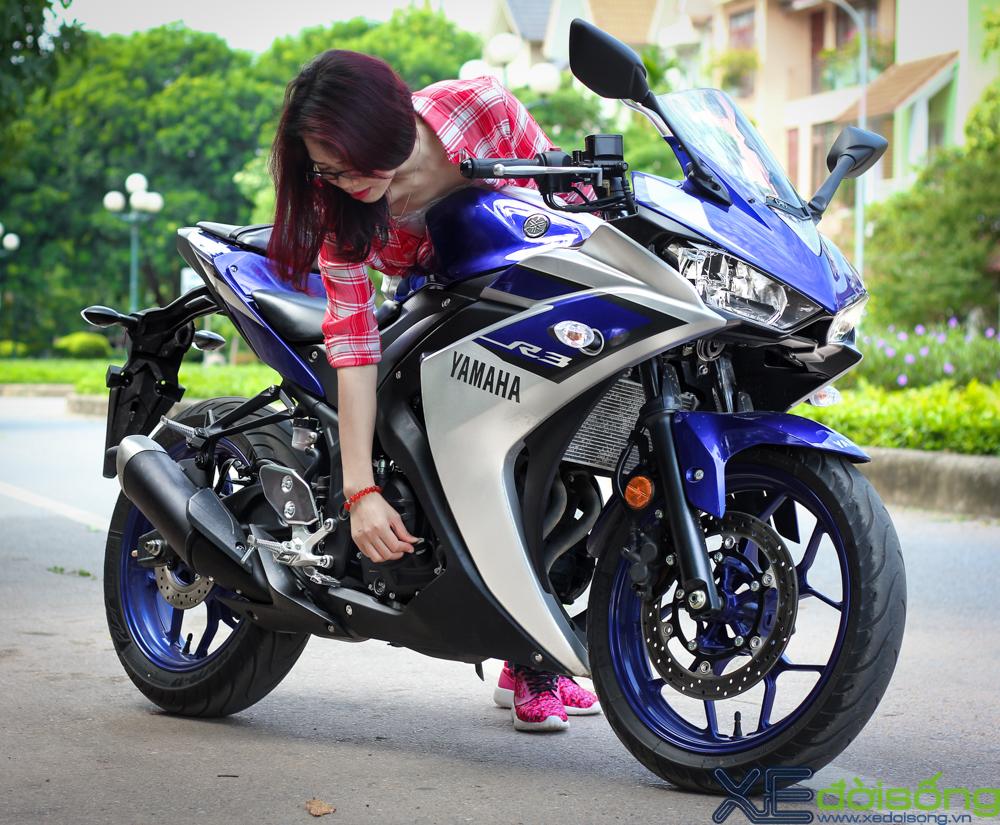 Yamaha R3 do dang cung thieu nu Ha Thanh xinh dep - 2