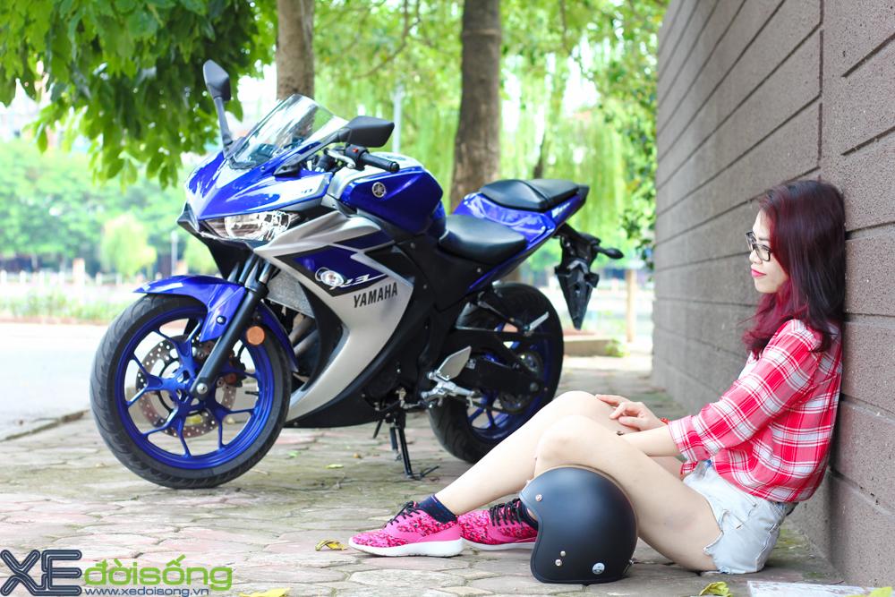 Yamaha R3 do dang cung thieu nu Ha Thanh xinh dep - 4